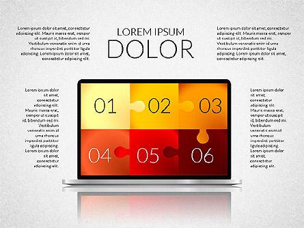 Presentation with Colorful Flat Shapes (data driven), Slide 6, 02319, Presentation Templates — PoweredTemplate.com