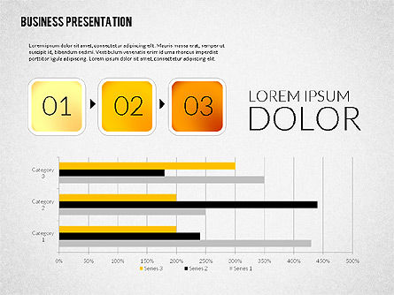 Presentation with Colorful Flat Shapes (data driven), Slide 7, 02319, Presentation Templates — PoweredTemplate.com