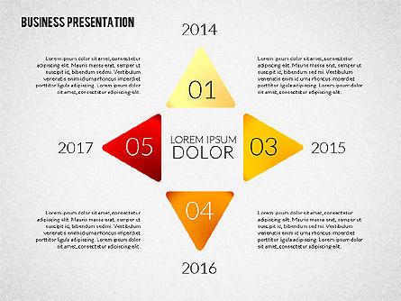 Presentation with Colorful Flat Shapes (data driven), Slide 8, 02319, Presentation Templates — PoweredTemplate.com