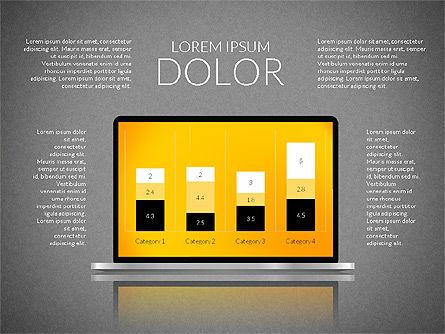 Presentation with Colorful Flat Shapes (data driven), Slide 9, 02319, Presentation Templates — PoweredTemplate.com