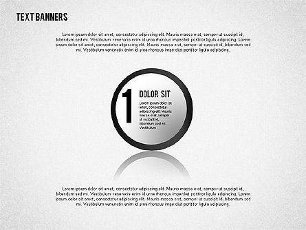 Round Text Banners, 02321, Text Boxes — PoweredTemplate.com