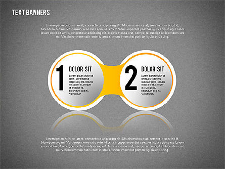 Round Text Banners, Slide 10, 02321, Text Boxes — PoweredTemplate.com