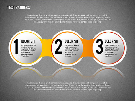 Round Text Banners, Slide 11, 02321, Text Boxes — PoweredTemplate.com