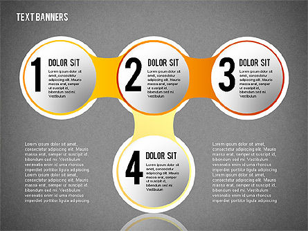 Round Text Banners, Slide 12, 02321, Text Boxes — PoweredTemplate.com