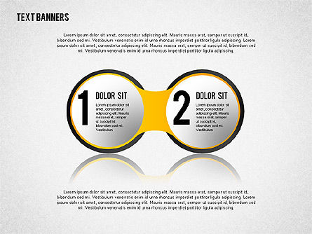 Round Text Banners, Slide 2, 02321, Text Boxes — PoweredTemplate.com