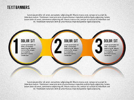 Round Text Banners, Slide 3, 02321, Text Boxes — PoweredTemplate.com