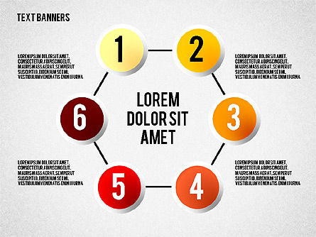 Round Text Banners, Slide 5, 02321, Text Boxes — PoweredTemplate.com