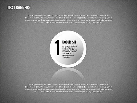 Round Text Banners, Slide 9, 02321, Text Boxes — PoweredTemplate.com