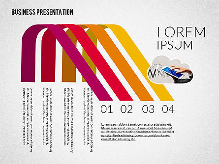 Colorful and Stylish Presentation Template, Slide 4, 02322, Presentation Templates — PoweredTemplate.com