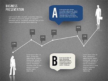 Business Presentation with Text Boxes (data driven), Slide 10, 02325, Presentation Templates — PoweredTemplate.com
