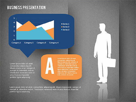 Business Presentation with Text Boxes (data driven), Slide 13, 02325, Presentation Templates — PoweredTemplate.com