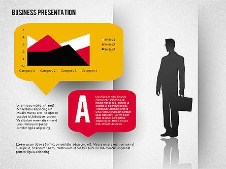 Business Presentation with Text Boxes (data driven), Slide 5, 02325, Presentation Templates — PoweredTemplate.com