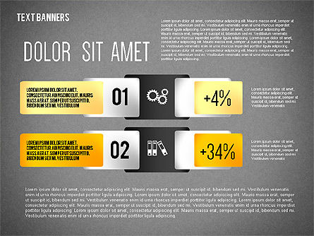 Colorful Text Banners with Icons, Slide 14, 02326, Text Boxes — PoweredTemplate.com