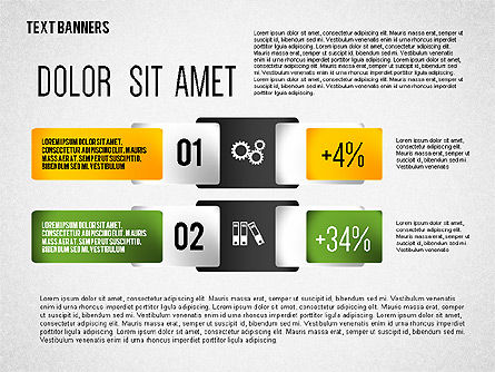 Colorful Text Banners with Icons, Slide 6, 02326, Text Boxes — PoweredTemplate.com