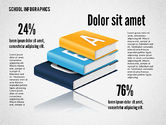 Infographics: Infographie scolaire moderne #02327