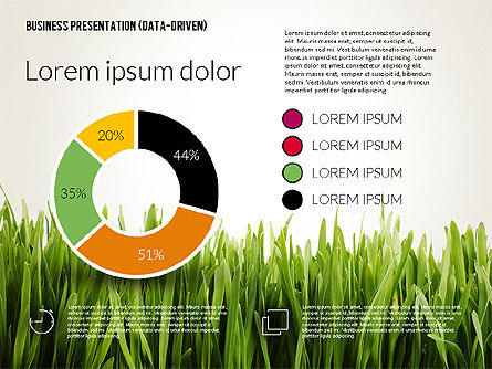 Data Driven Business Presentation Template, Slide 2, 02328, Presentation Templates — PoweredTemplate.com