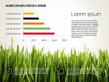 Data Driven Business Presentation Template, Slide 4, 02328, Presentation Templates — PoweredTemplate.com