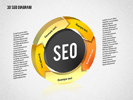 Process Diagrams: 3D SEO Process Diagram #02329