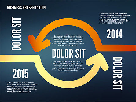 Arrows and Directions in Flat Design, Slide 11, 02330, Shapes — PoweredTemplate.com