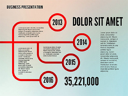 Arrows and Directions in Flat Design, Slide 8, 02330, Shapes — PoweredTemplate.com