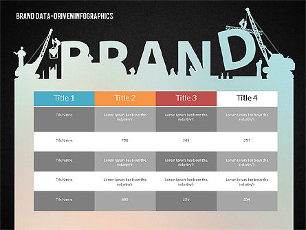 Building Brand Presentation Template (data driven), Slide 13, 02332, Presentation Templates — PoweredTemplate.com