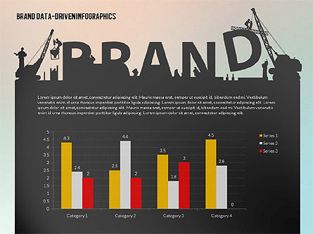 Building Brand Presentation Template (data driven), Slide 4, 02332, Presentation Templates — PoweredTemplate.com