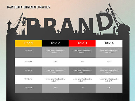 Building Brand Presentation Template (data driven), Slide 5, 02332, Presentation Templates — PoweredTemplate.com