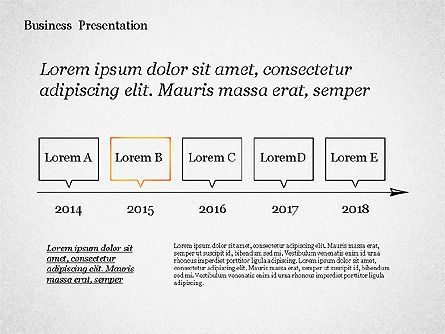 Sketch Style Presentation Template, Slide 8, 02334, Presentation Templates — PoweredTemplate.com