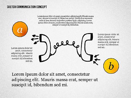 Communication Concept Sketch, 02335, Presentation Templates — PoweredTemplate.com