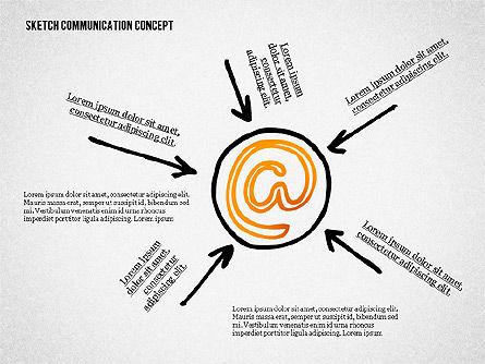 Communication Concept Sketch, Slide 2, 02335, Presentation Templates — PoweredTemplate.com