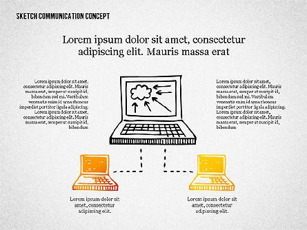 Communication Concept Sketch, Slide 3, 02335, Presentation Templates — PoweredTemplate.com
