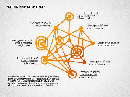 Communication Concept Sketch, Slide 4, 02335, Presentation Templates — PoweredTemplate.com