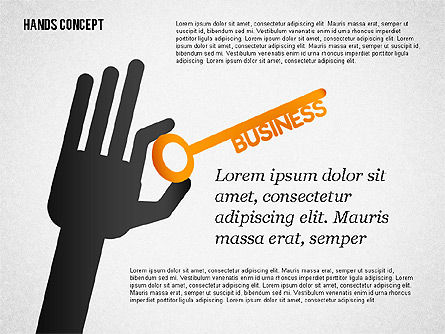 Presentation Templates: Hands with Objects Shapes #02336