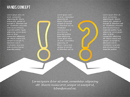 Hands with Objects Shapes, Slide 10, 02336, Presentation Templates — PoweredTemplate.com