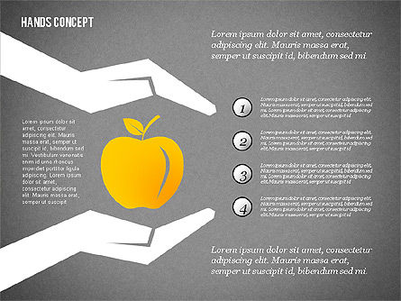 Hands with Objects Shapes, Slide 13, 02336, Presentation Templates — PoweredTemplate.com