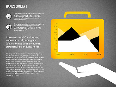 Hands with Objects Shapes, Slide 14, 02336, Presentation Templates — PoweredTemplate.com