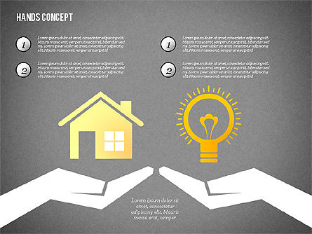 Hands with Objects Shapes, Slide 16, 02336, Presentation Templates — PoweredTemplate.com