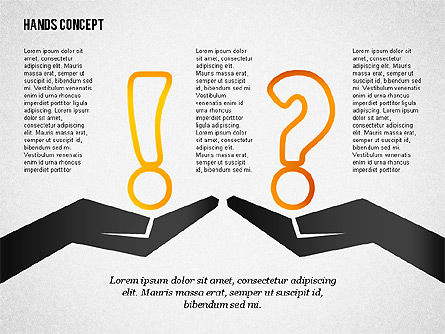 Hands with Objects Shapes, Slide 2, 02336, Presentation Templates — PoweredTemplate.com