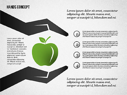 Hands with Objects Shapes, Slide 5, 02336, Presentation Templates — PoweredTemplate.com