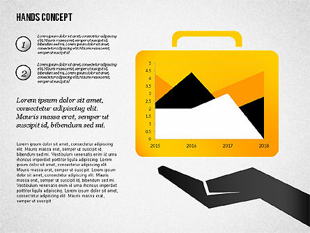 Hands with Objects Shapes, Slide 6, 02336, Presentation Templates — PoweredTemplate.com