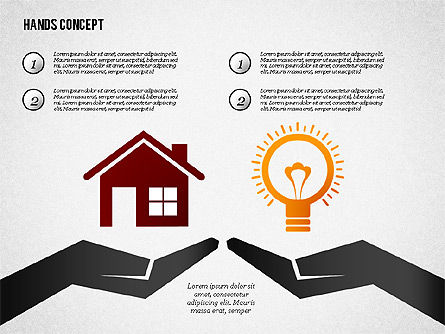 Hands with Objects Shapes, Slide 8, 02336, Presentation Templates — PoweredTemplate.com
