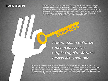 Hands with Objects Shapes, Slide 9, 02336, Presentation Templates — PoweredTemplate.com