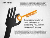 Presentation Templates: Handen met voorwerpen vormen #02336