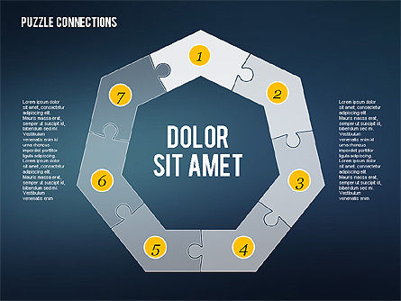Puzzle Connections in Flat Design, Slide 2, 02338, Puzzle Diagrams — PoweredTemplate.com