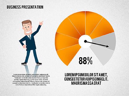 Business Presentation with Character, Slide 2, 02339, Presentation Templates — PoweredTemplate.com