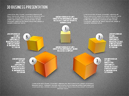 3D Business Presentation, Slide 11, 02341, Presentation Templates — PoweredTemplate.com