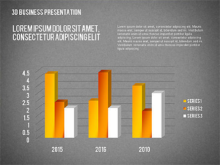 3D Business Presentation, Slide 14, 02341, Presentation Templates — PoweredTemplate.com