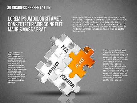 3D Business Presentation, Slide 15, 02341, Presentation Templates — PoweredTemplate.com