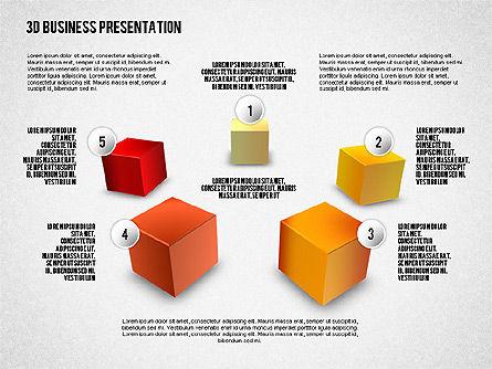 3D Business Presentation, Slide 3, 02341, Presentation Templates — PoweredTemplate.com