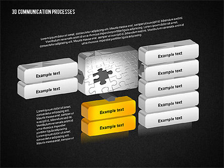 3D Communication Processes Diagram, Slide 10, 02343, Process Diagrams — PoweredTemplate.com